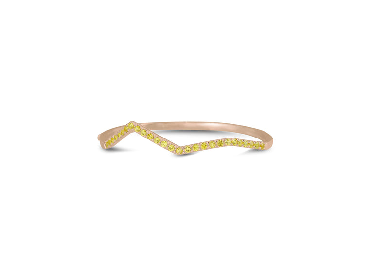 Ziggy Pave Bangle in Yellow Sapphire