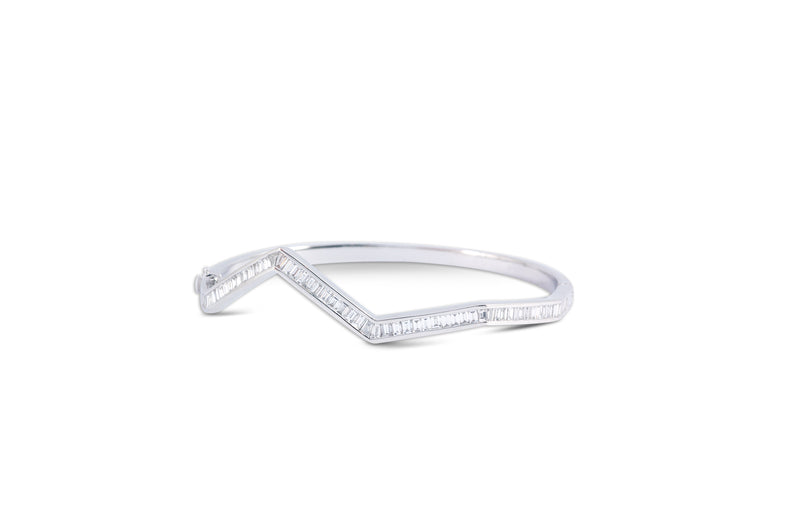 Origami Ziggy Diamond Bangle