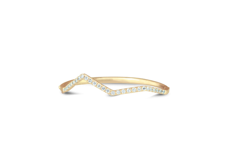 Origami Ziggy Pave Bangle in Diamond
