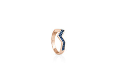 Origami Ziggy Stack Rings in Sapphire  Kavant Sharart