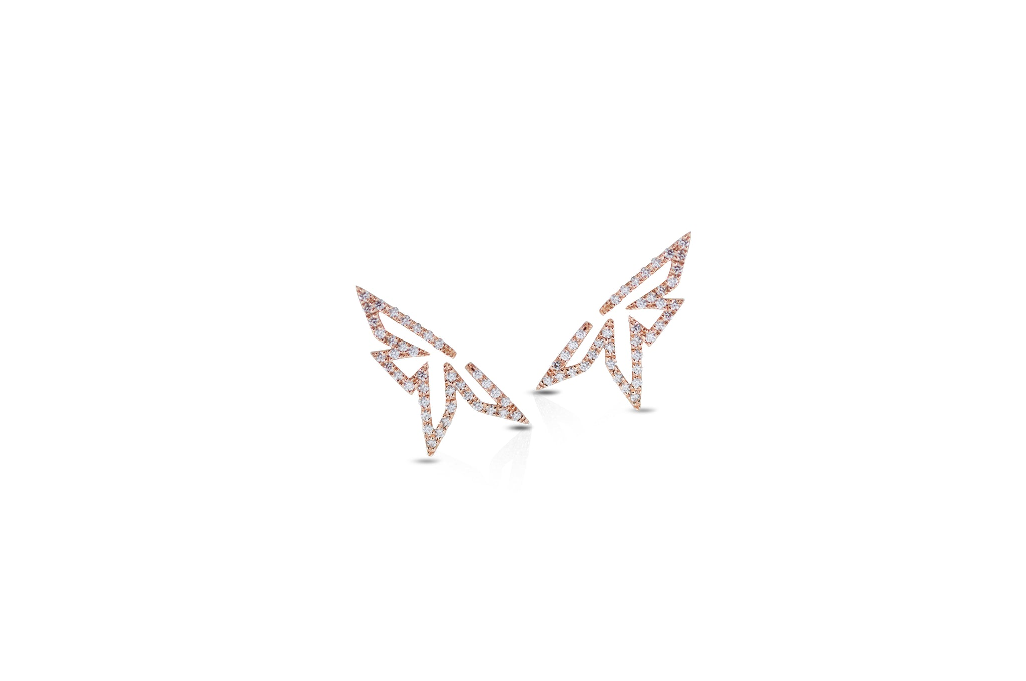 Origami Mini Silhouette Diamond Earrings