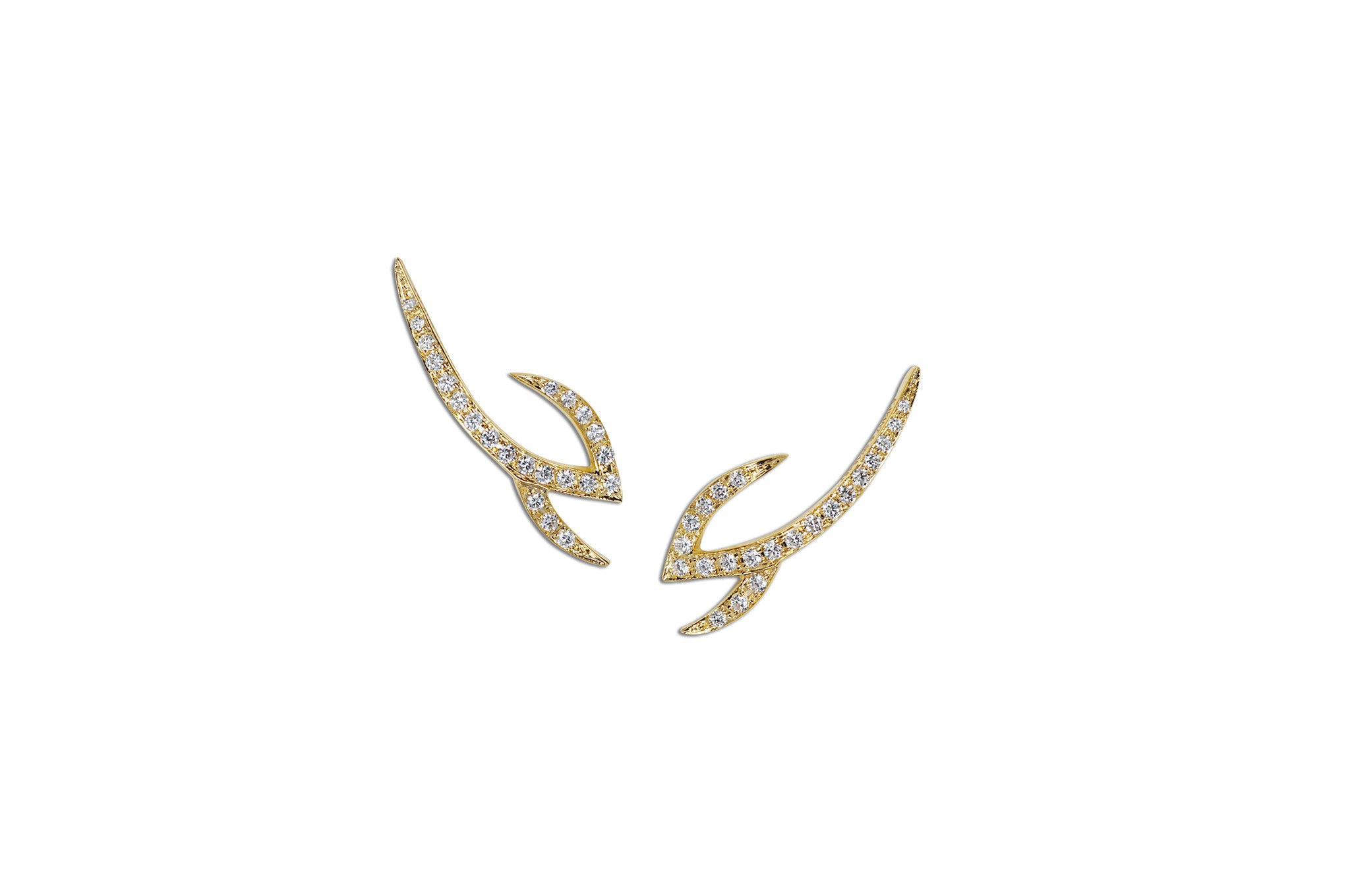 Le Phoenix Claw Diamond Earrings