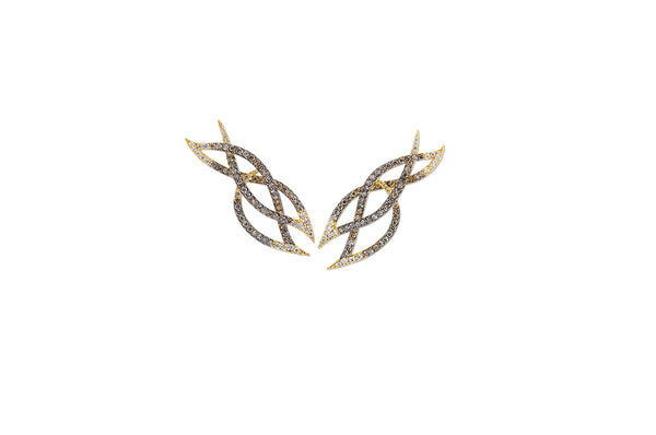 Le Phoenix Intertwined Diamond Earrings [as seen on Uzo Aduba]