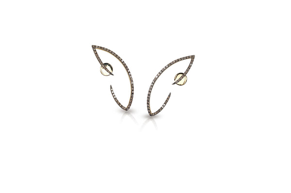 Le Phoenix Wing Diamond Earrings