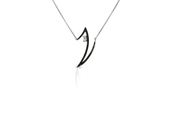 Le Phoenix Zeal  Black & White Diamond Necklace