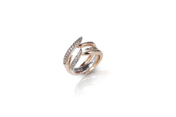 Le Phoenix Duo Claw Stack Rose Gold Diamond Ring