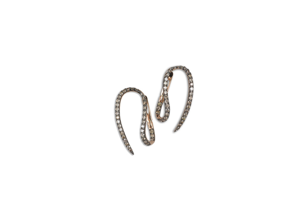 Le Phoenix Single Claw Diamond Earrings