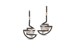 GeoArt TTR-X Series Mother-of-Pearl Diamond Earrings