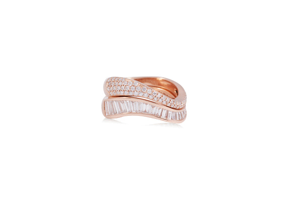 Talay Flow Wave Ring stack of 2