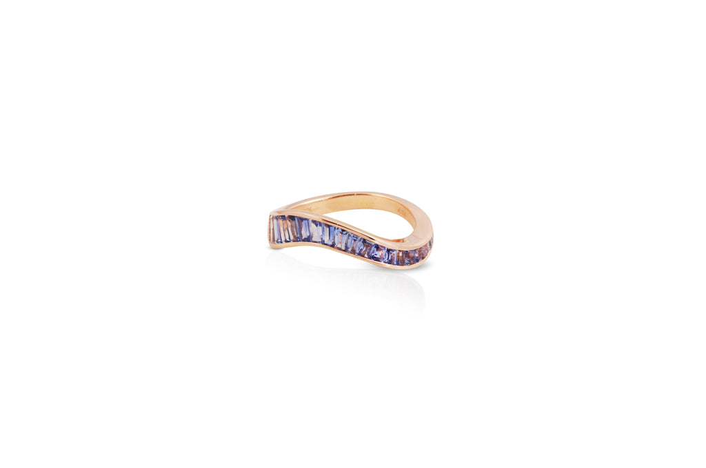 Talay Flow Wave Ring in Purple Sapphire
