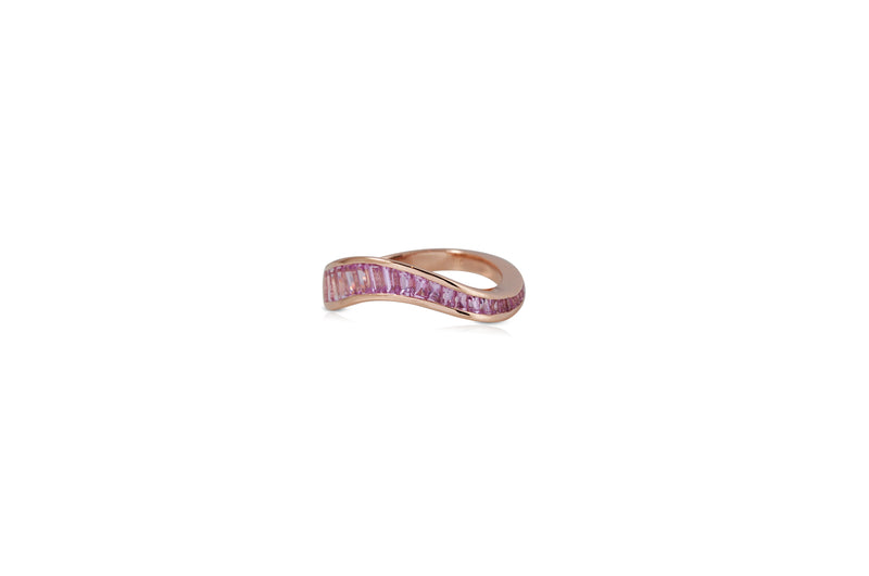 Talay Flow Wave Ring in Pink Sapphire