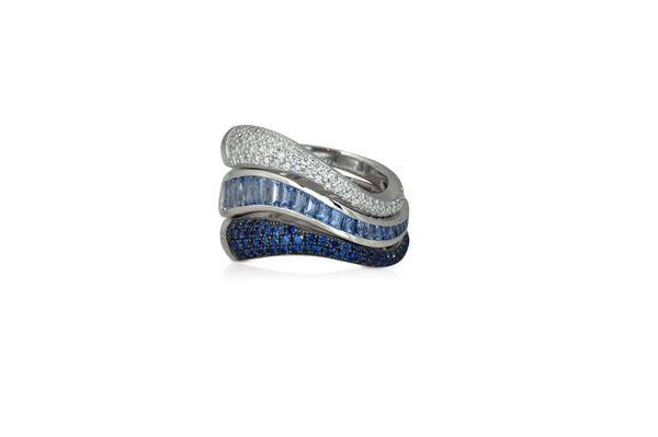 Talay Flow Wave Ring stack of 3