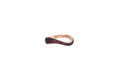 Talay Flow Wave Ring in Pave Ruby
