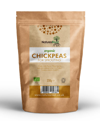Organic Chickpeas for Sprouting - Natures Root