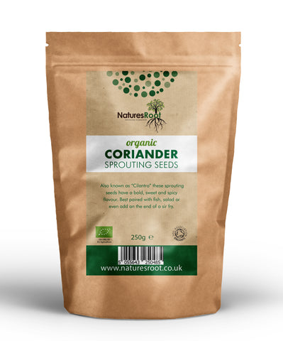 Organic Coriander Sprouting Seeds - Natures Root