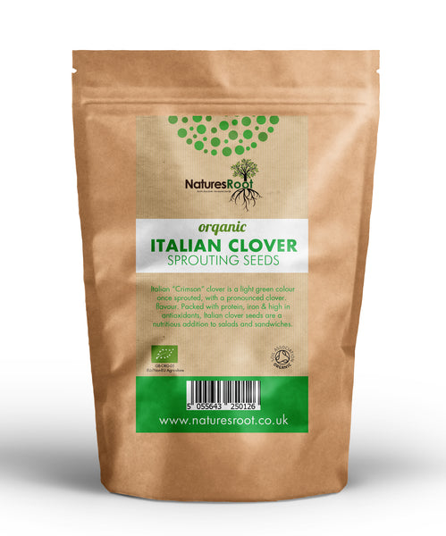 Organic Italian Clover Sprouting Seeds