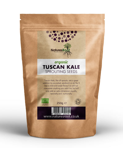 Organic Tuscan Kale Sprouting Seeds - Natures Root