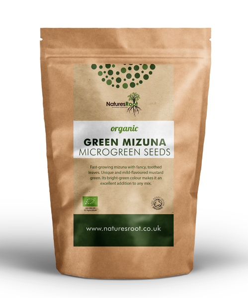 Organic Mizuna Green Sprouting Seeds - Natures Root