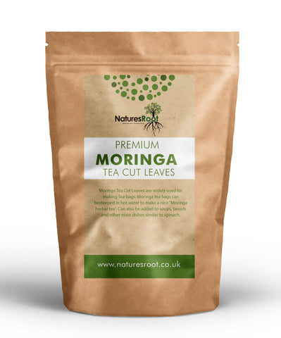 Premium Moringa T-Cut Leaves - Dried & Crushed - Natures Root