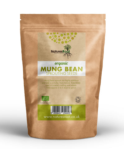 Organic Mung Bean Sprouting Seeds - Natures Root