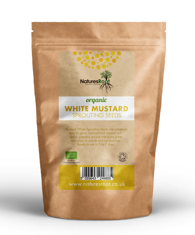Organic White Mustard Sprouting Seeds - Natures Root
