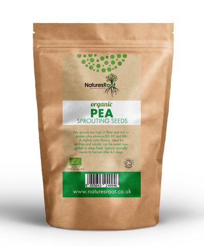Organic Pea Shoot Sprouting Seeds - Natures Root
