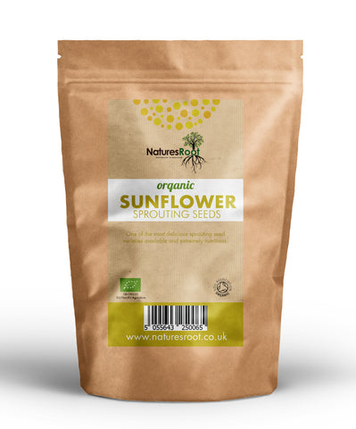 Organic Sunflower Sprouting Seeds - Natures Root