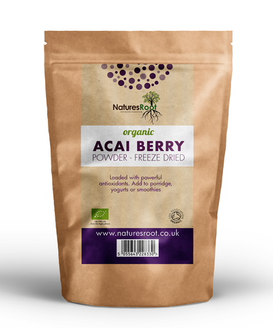 Natures Root, Organic Acai Berry Powder - Freeze Dried