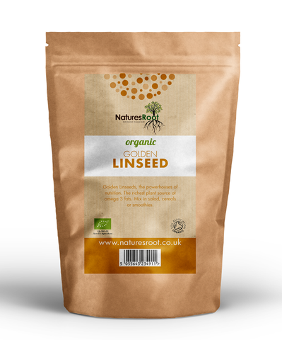 Natures Root, Organic Golden Linseeds