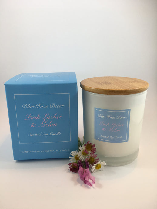 Pink Lychee & Melon Candle