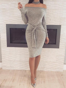 Eliva Bodycon Long Sleeve Dress