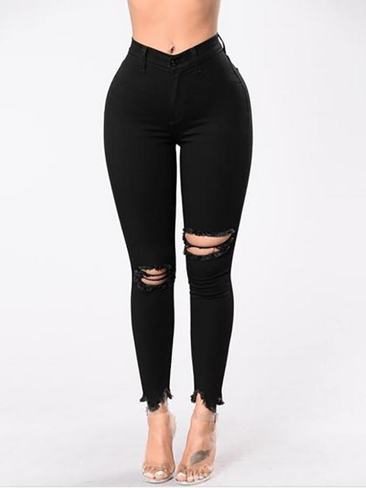 Black High Waisted Denim Jeans