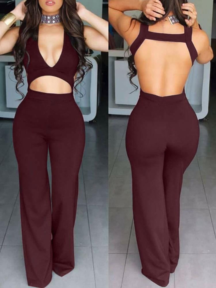 Aurora Backless Jumpsuit