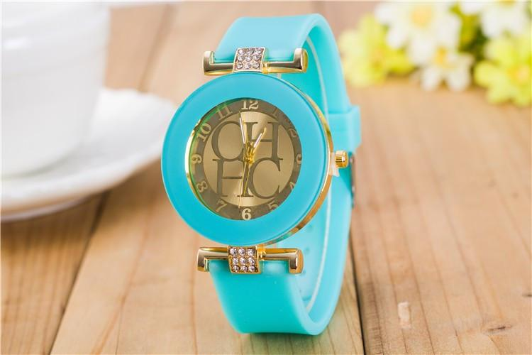 Beautiful Women's Crystal Silicone Watches