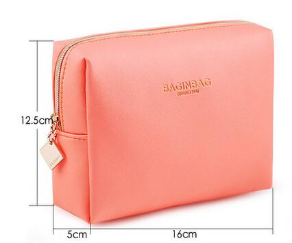 Fashionable Leather Cosmetic Bag