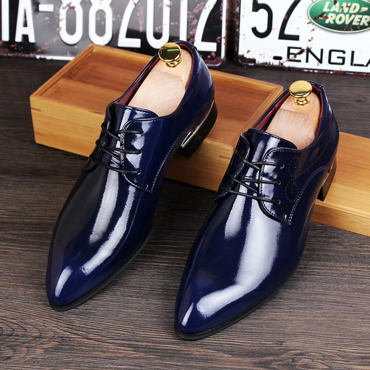 British Fashionable Men's Genuine Leather Dress Shoes