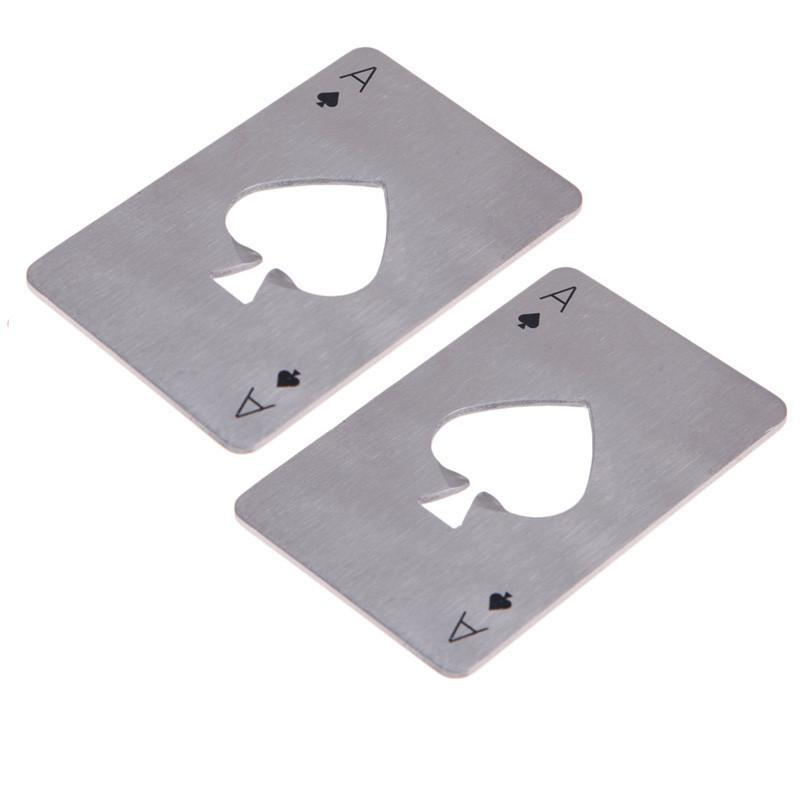 1pc Stainless Steel Poker Playing Card