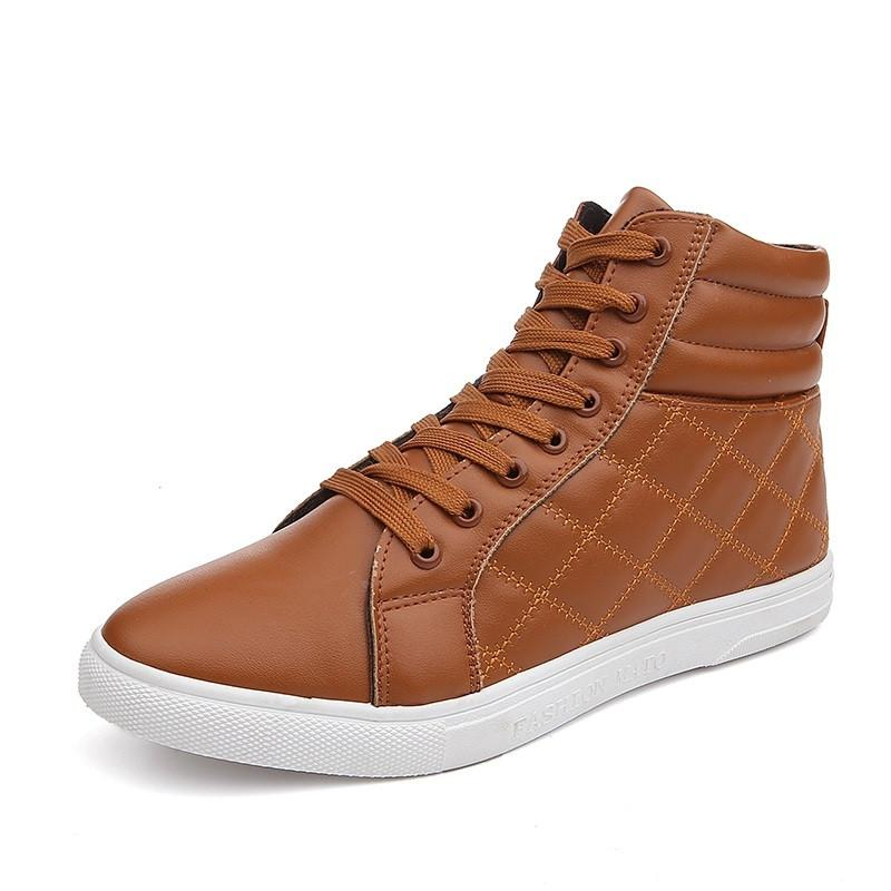 Casual Men Lace-up Leather Shoes