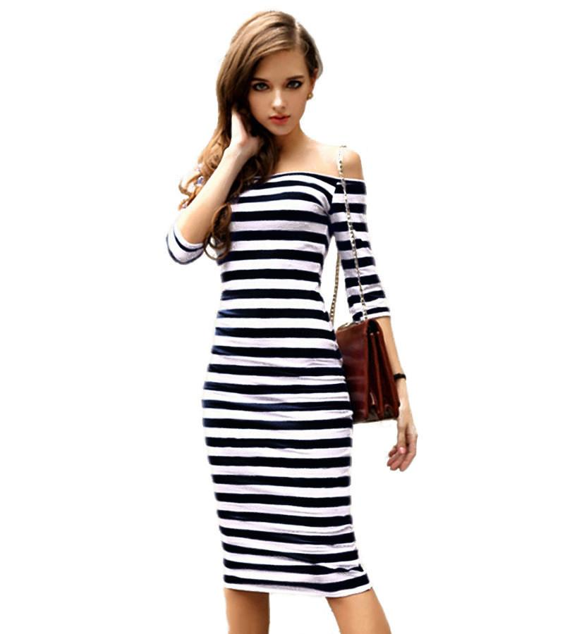 Casual Summer Stripe Bodycon Dress
