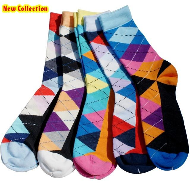 5 Pairs Men's Multicolor Stylish Socks