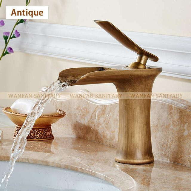 Contemporary Ceramic Waterfall Bathroom Faucet