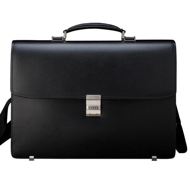 Classic Men's Leather Briefcase Bag