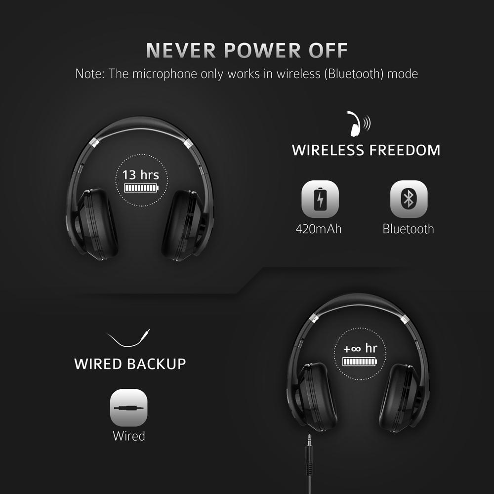 Bluetooth 6.0 Noise Cancelling Foldable Headset