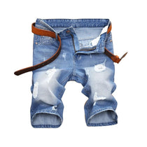 Men's Ripped Denim Jean Shorts