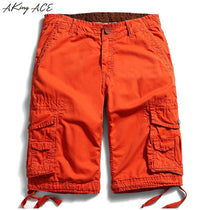 Men's Orange Cargo Shorts