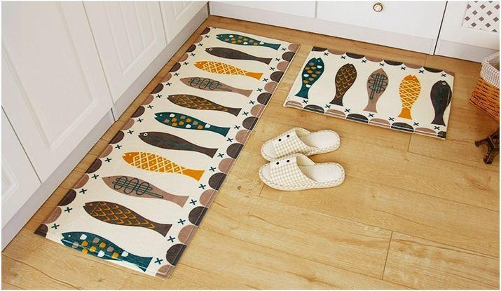 Fun Fish Design Velvet Floor Mats