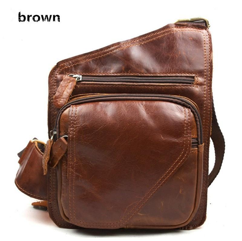 Casual Men's Leather Shoulder Bag