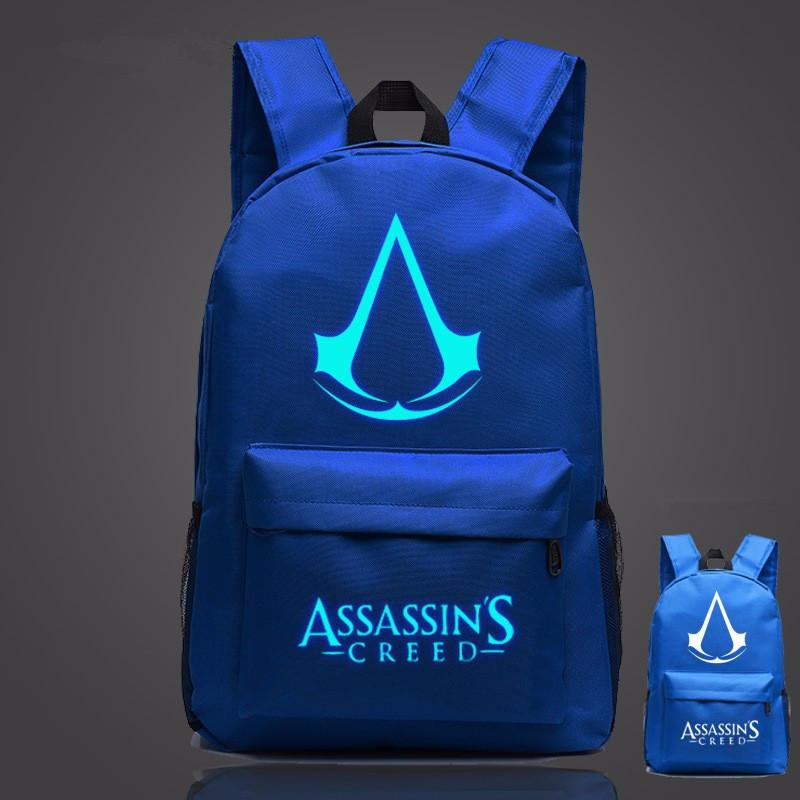 Amazing Lumious Assassins Creed School Bag Backpack