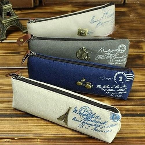 Canvas Stationery Storage Pen Pencil Case