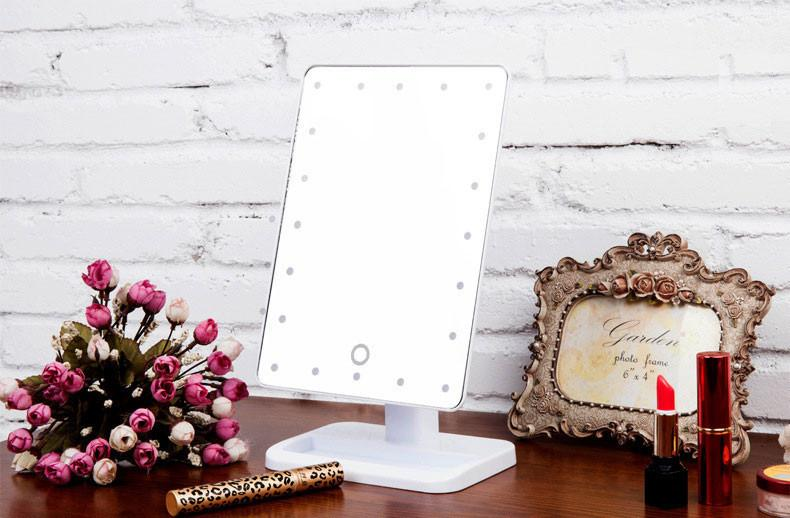 Adjustable Beauty Touch Screen LED Mirror